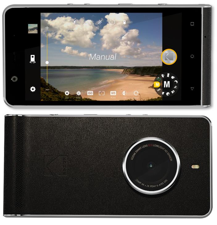 kodak ektra smartphone features