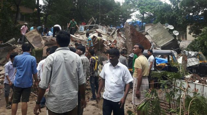mumbai building collapsed Mumbai building collapsed Shiv Sena leader arrested