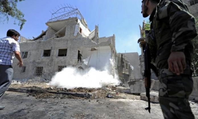 Three car bombs hit Damascus