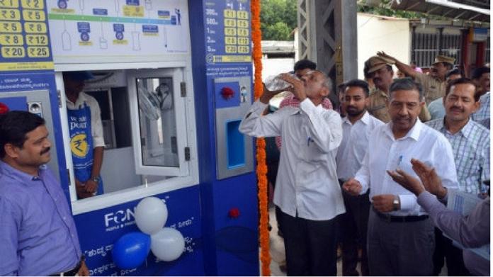 water vending machine in railway station