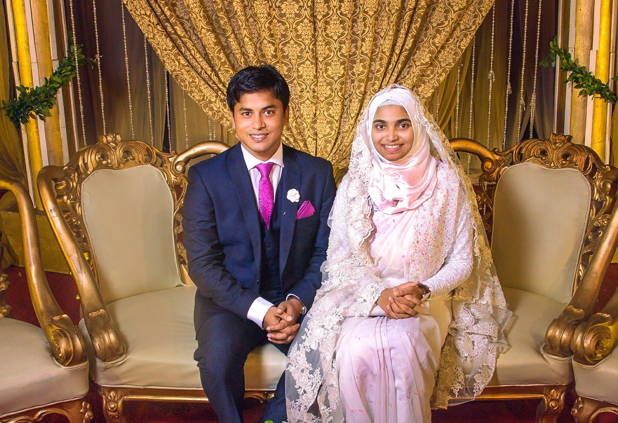 thasnim jara simple marriage without makeup costly dress