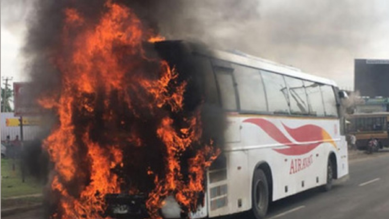 Karnataka bus fire