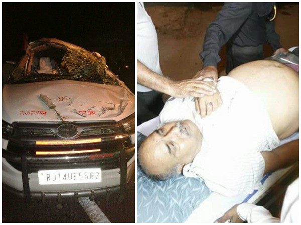 rajastan minister car accident PA dead