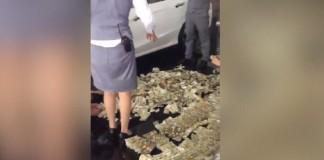 Woman buys car with 4 full sacks of 1-yuan notes
