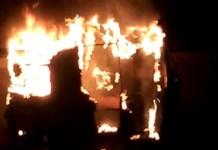 burned corpse found in auto rickshaw Kannur