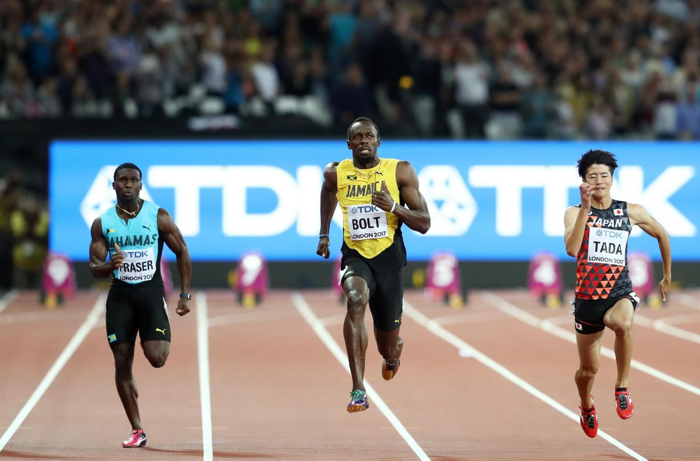 usain bolt in semifinals