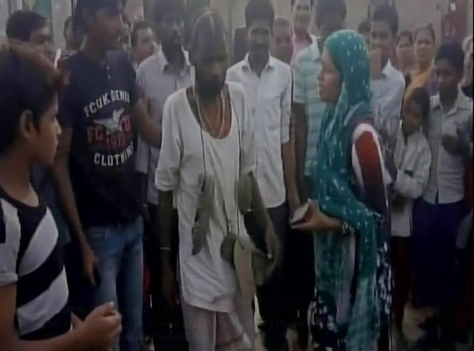 man tried rape minor girl mob shaved off head