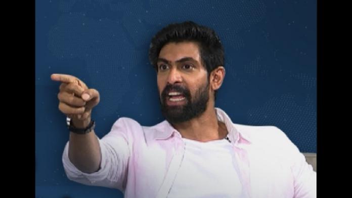 rana daggubati gets angry during interview
