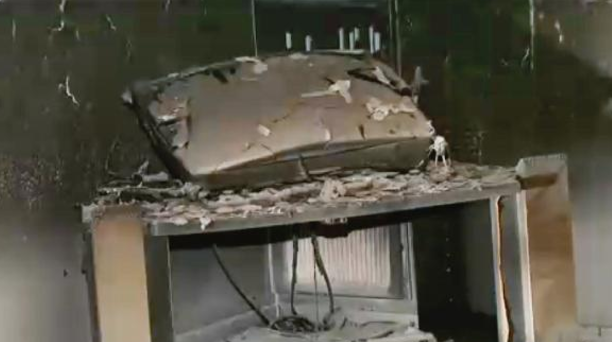 TV burned to flames while watching