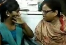 bjp woman leader sangeetha varshini slaps girl for sitting with muslim boy