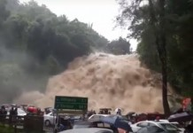 charpa falls during heavy rain kerala