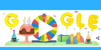google celebrates 19th birthday with surprise spinner