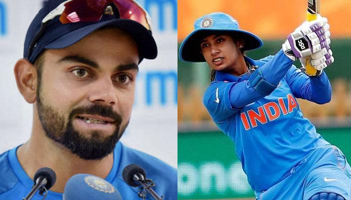 mithali and kohli tops ICC ranking