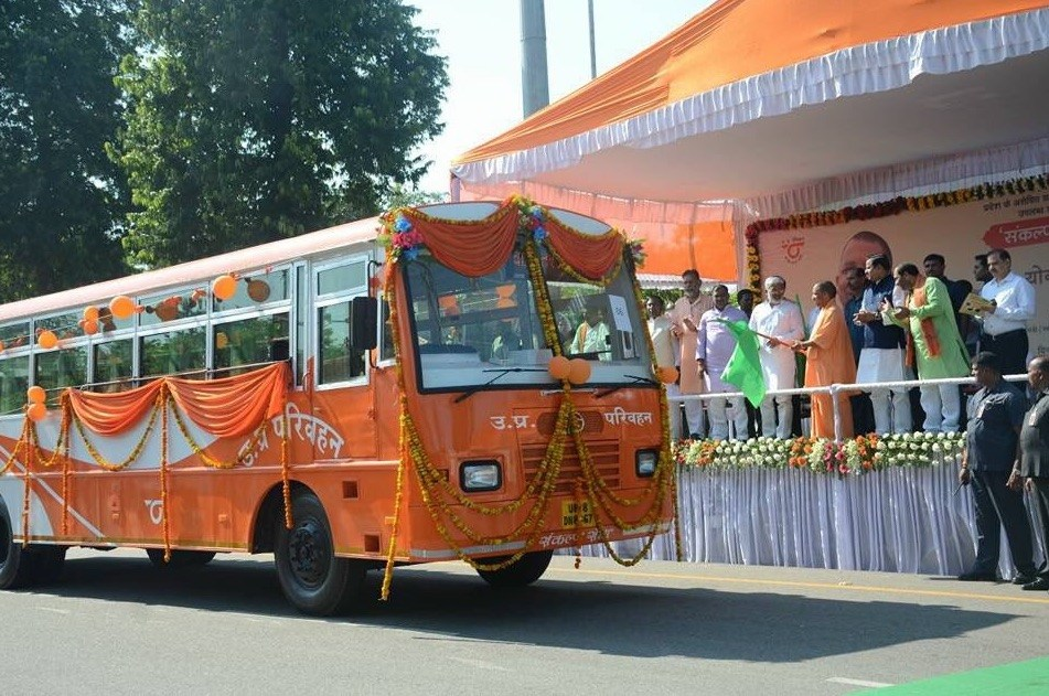 uttar pradesh dips everything in saffron color