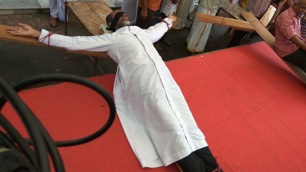 dr davis chiramel protest against hartal