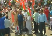 bjp protest to akg centre (1)
