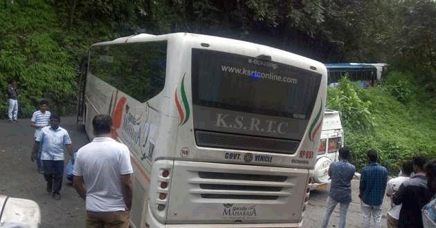scania bus stuck at wayanad