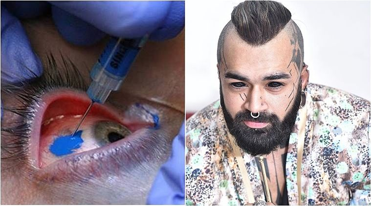 delhi man tattooed eyeball for the first time in india