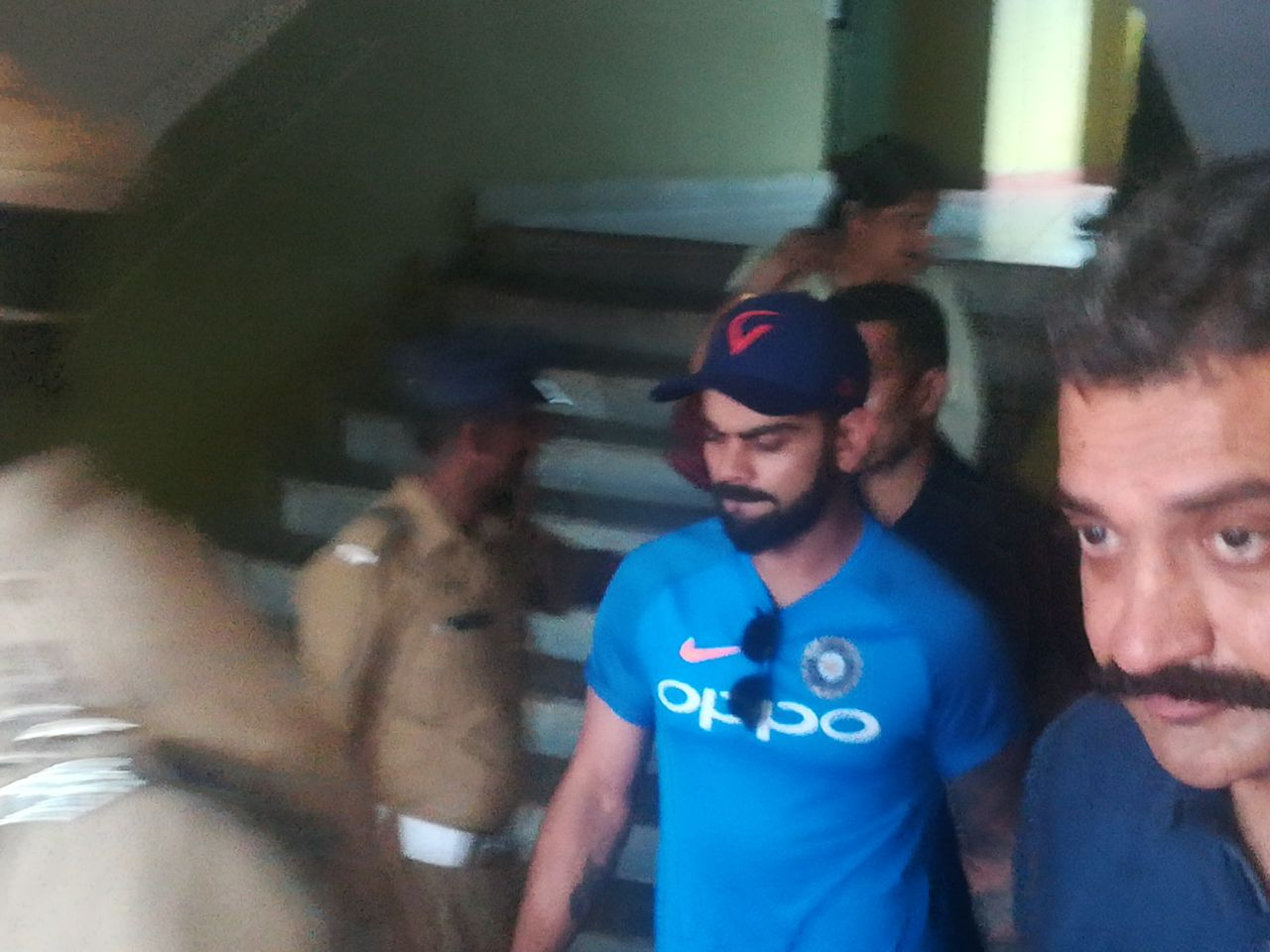 pinarayi Vijayan and Virat Kohli hold hands together for Yes to cricket No to drugs campaign