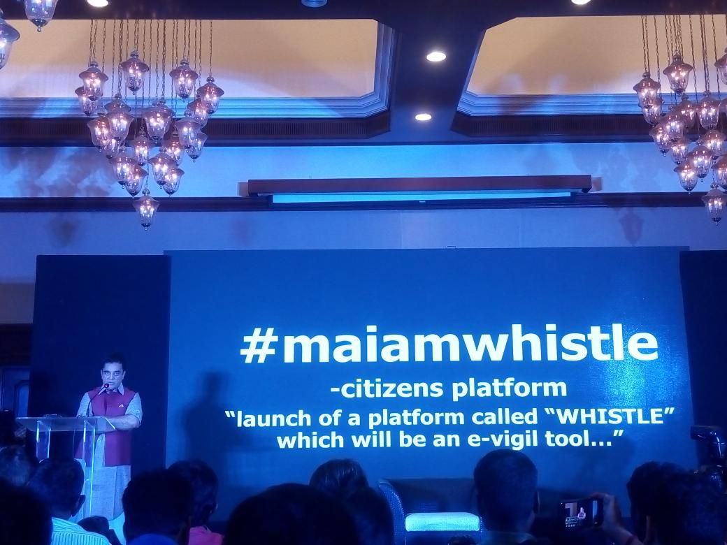 kamal hassan launches new app maiam whistle