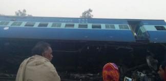 train derailed in UP