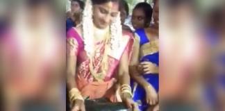 bride grinds chutney video goes viral