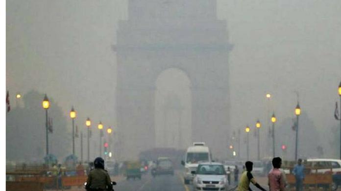 X high air pollution at Delhi