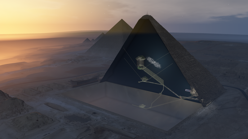 scientists found Hidden Space In Great Pyramid Of Giza