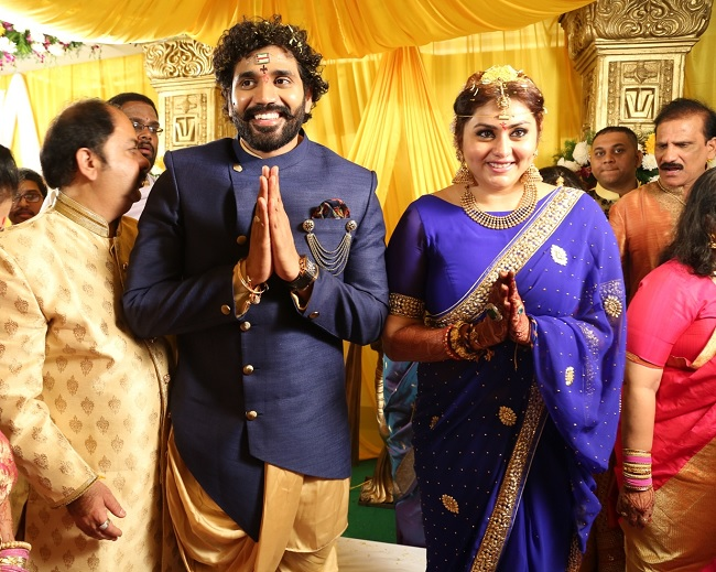 namitha wedding blue