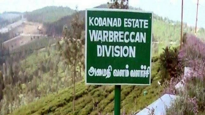 raid in kodanadu estate