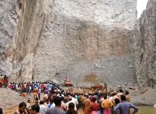 thiruvananthapuram quarry accident video