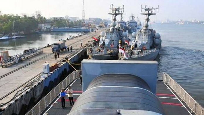 war vessels left vizhinjam port