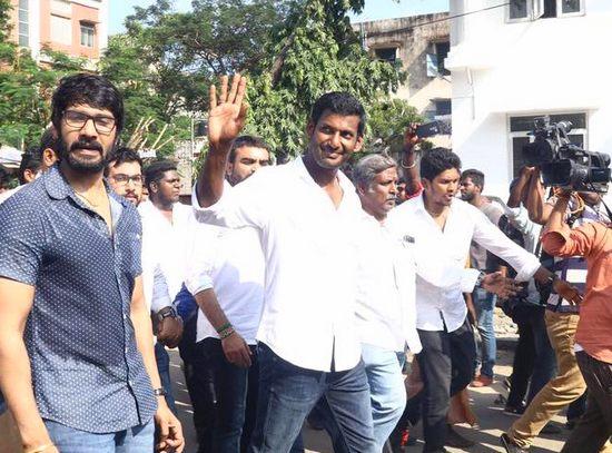 Actor vishal nomination rejected