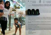 Mom wrote to Hindustan Pencils about her left-handed daughter's problem