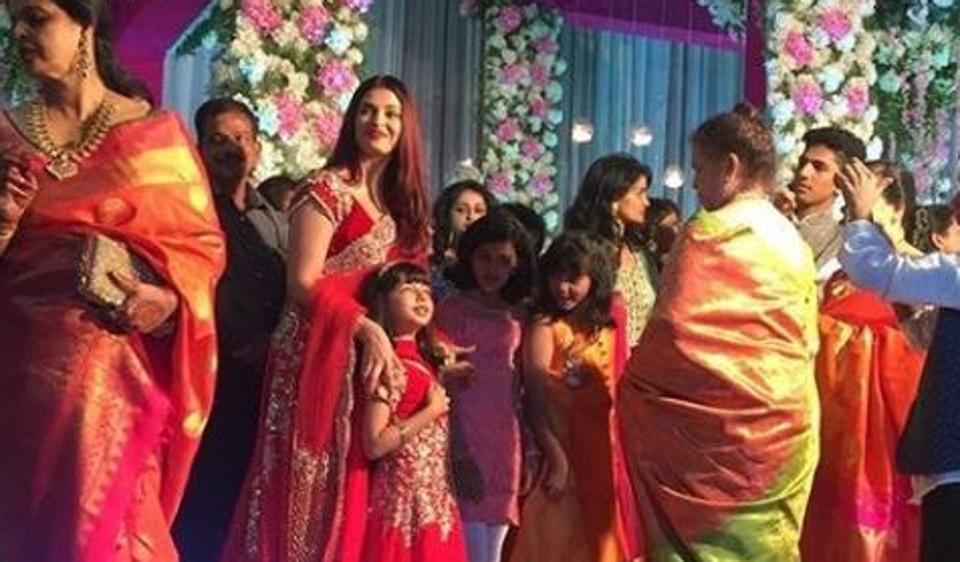 aiswarya aradhya duo rocks in RED