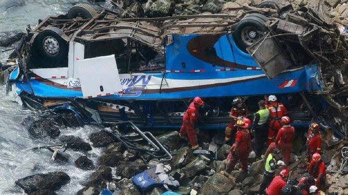 48 killed in Peru 'Devil's Curve' bus crash