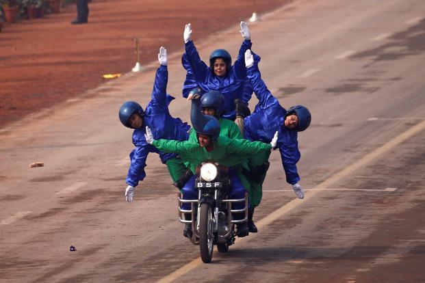 women bsf jawans republic day parade