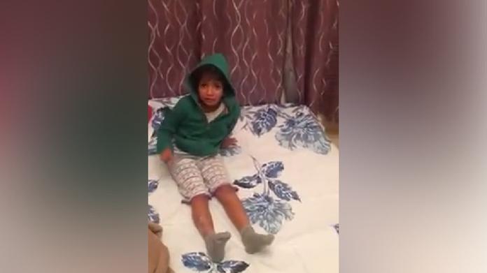 child cries to watch uppum mulakum