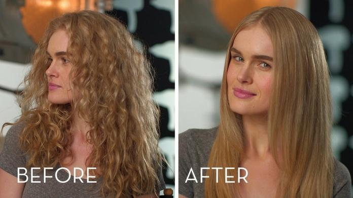 hair straightening using blow dryer