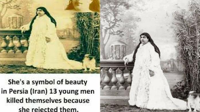 truth behind qajar princess meme
