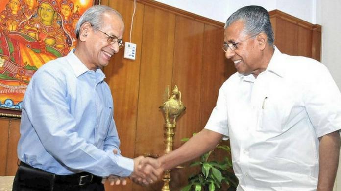 E.Sreedharan with Pinarayi