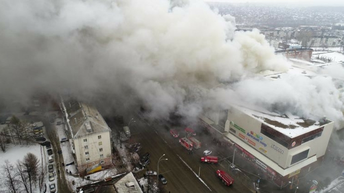 fire in Russian shopping mall killed 37