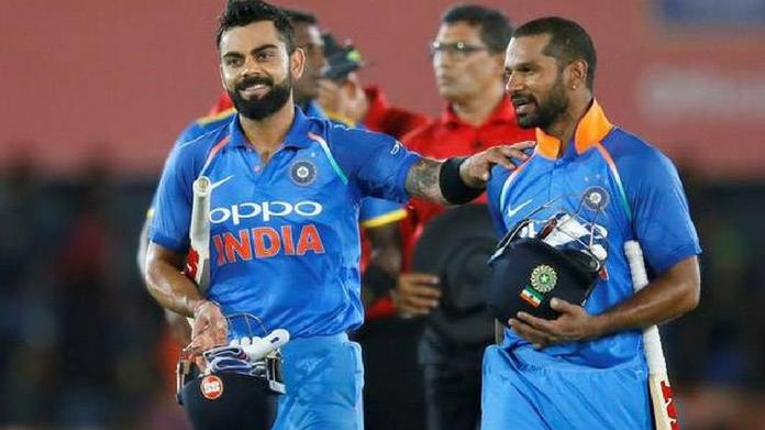 Kohli With Dhawan