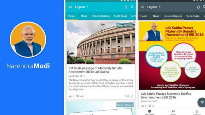 Narendra Modi Android app sharing personal info of users