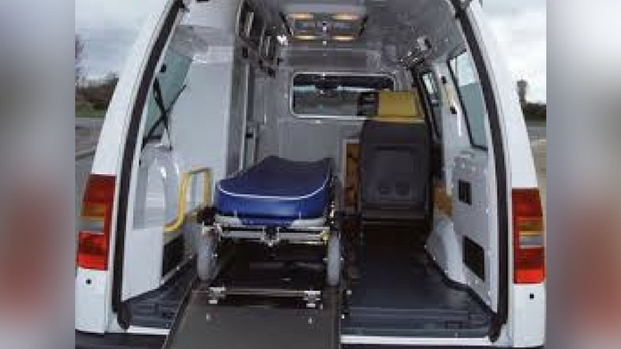 patient died due to lack og oxygen in ambulance
