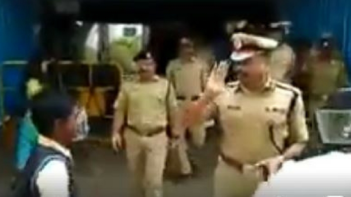 police salutes student