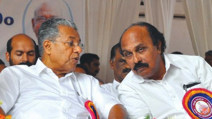 Pinarayi with Chandrasekharan