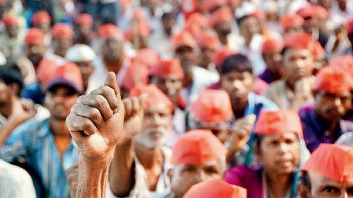 farmers protest against maharashtra govt again