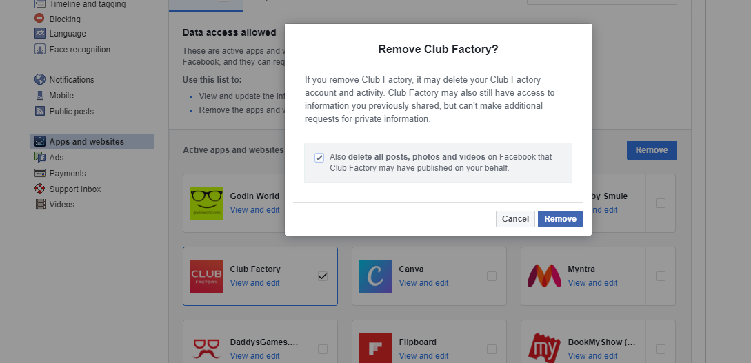 this is how you can review and protect your data in facebook