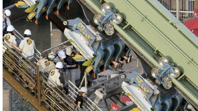 Passengers stranded upside down for hours on roller coaster